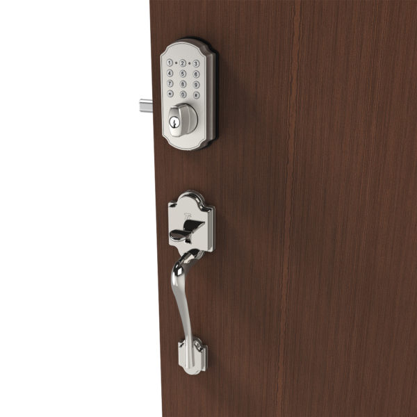 TURBOLOCK Front Door Lockset Combo — Digital Deadbolt with Keypad + Entry Handle | Electronic Deadbolt Lock w/Voice Prompts | Beautiful, Effective and Easy to Install (TL114+TL121)