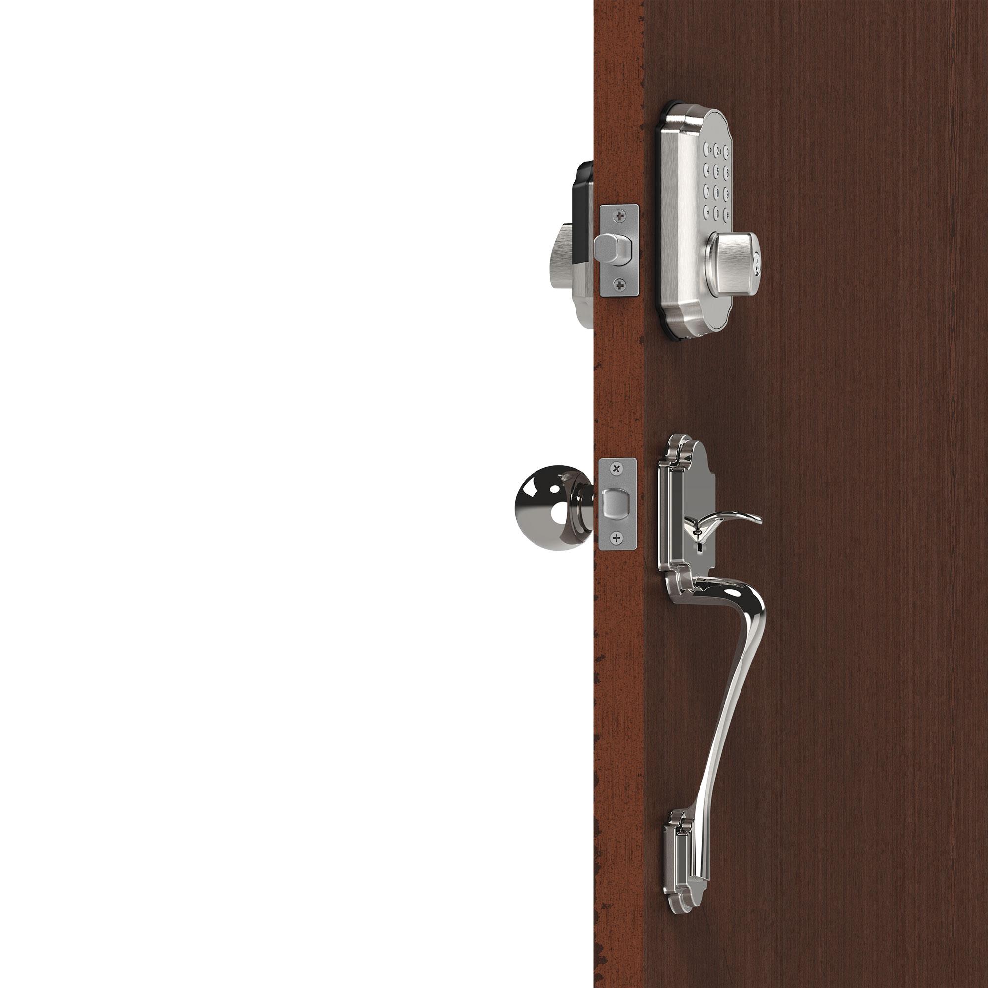 Picture of: Smart Door Lockset Combo Bluetooth Deadbolt Keypad App Tl115 Tl121 Brushed Nickel Turbolock Com