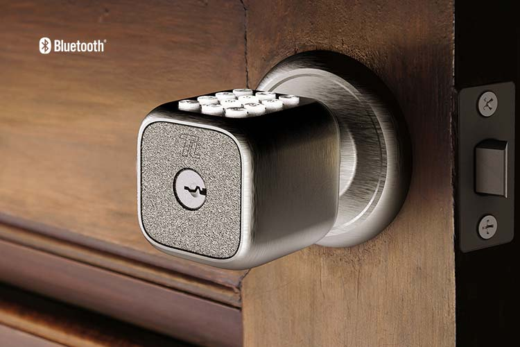 Closeup of the TL111 Knob-Styled Digital Smartlock with Keypad