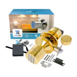 TurboLock YL-99-PB Digital Door Lock, Brass 1